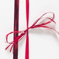 Raphlenband metallic röd