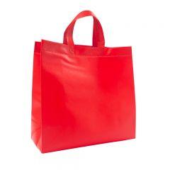 Bärkasse shopper non-woven röd