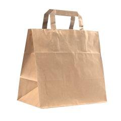 Take away kasse / plantkasse platta handtag brun
