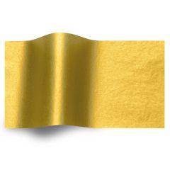 Silkespapper Metall Bladguld 1-sidig