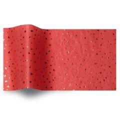 Silkespapper Satin Röd/röd