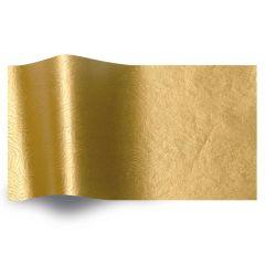 Silkespapper Satin Präglat guld virvla