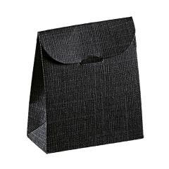 Kartongpåse linnepräglad svart