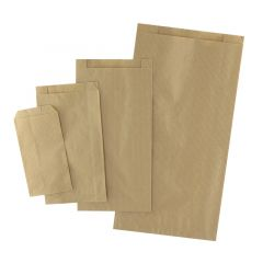 Ribbad plan papperspåse brun