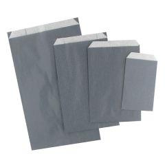 Plan papperspåse grå