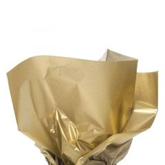 Färgat silkespapper metallic guld