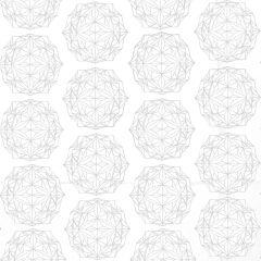 Presentpapper Polygon vit