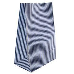 Sos papperspåsar blå randig