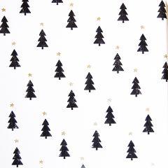 Presentpapper Black & white christmas