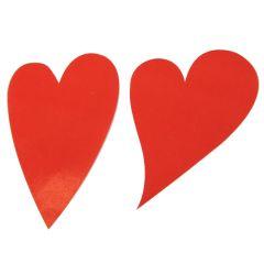 Etikett hjärta sneda röd