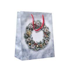 Flaskpåse Christmas wreath