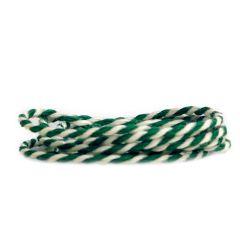 Textilgarn 2-färg grön/vit