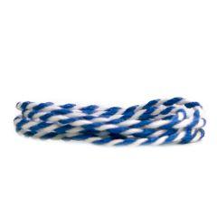 Textilgarn 2-färg blå/vit